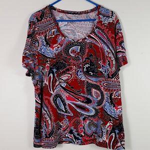 Talbots woman paisley top shirt